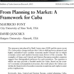 From Planning to Market: A Framework for Cuba
